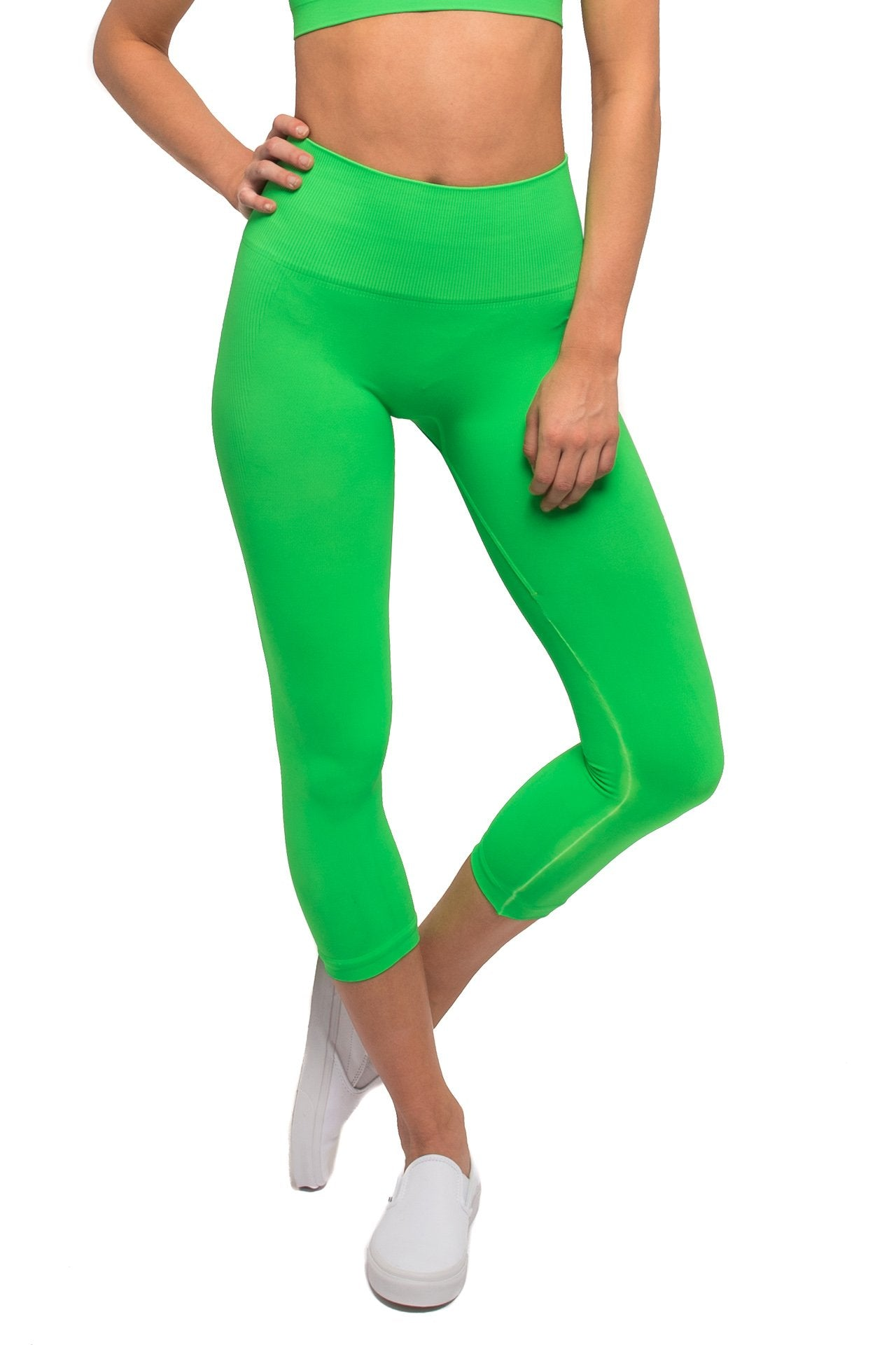 071f2779ba32c LA Collective | Morgan Stewart Sport | Jean-Michel legging Neon Green