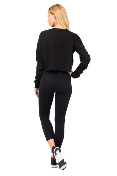 Arlo Crop Sweatshirt Midnight