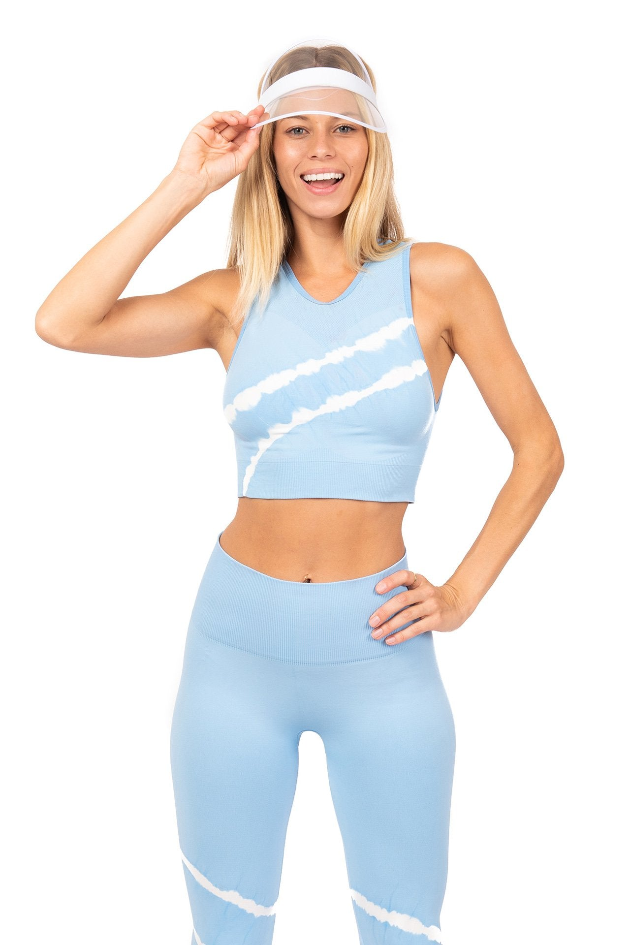 Vita LA Nirvana Crop Sports Bra Ice Blue