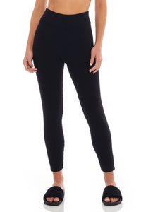 Load image into Gallery viewer, Classic Black Ribbed Legging