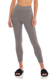 Load image into Gallery viewer, Classic Grey Ribbed Legging