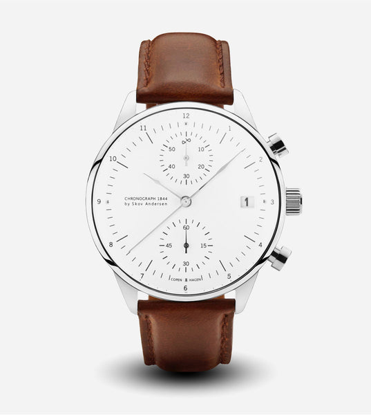 1844 Chronograph Watch - Brown Strap