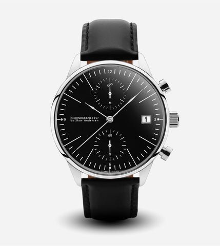 1957 Chronograph Watch - Black Strap