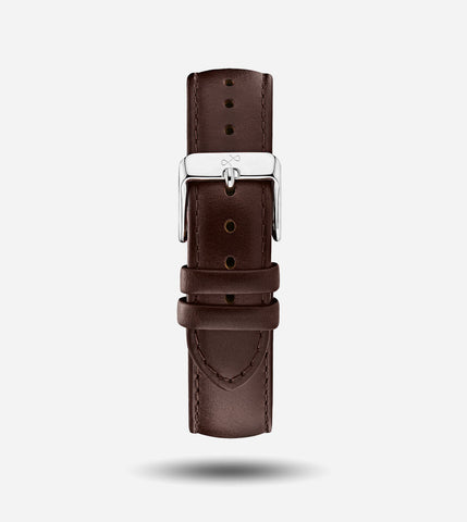 Dark Brown Leather - 20mm Strap