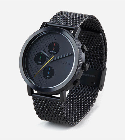 2204 Series - Black w Black Mesh Band