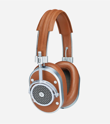 MH40 Over Ear Headphones, in Silver/Brown