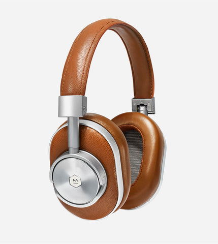 MW60 Wireless Over Ear Headphones, in Silver/Brown