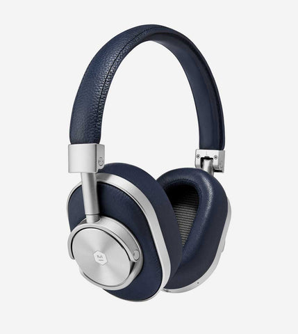 MW60 Wireless Over Ear Headphones, in Silver/Navy