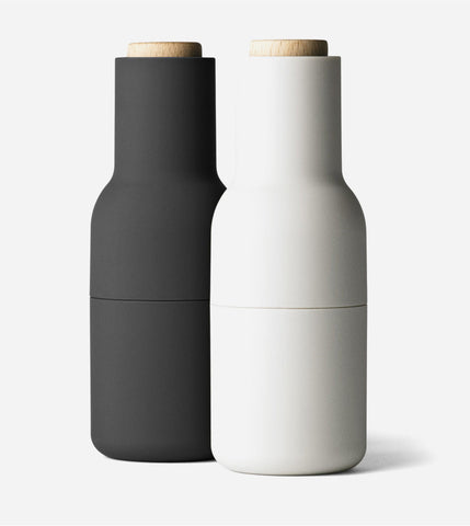 Salt & Pepper Bottle Grinder Set - Ash/Carbon