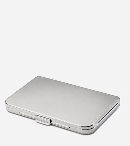 Satin Silver Business Card Holder