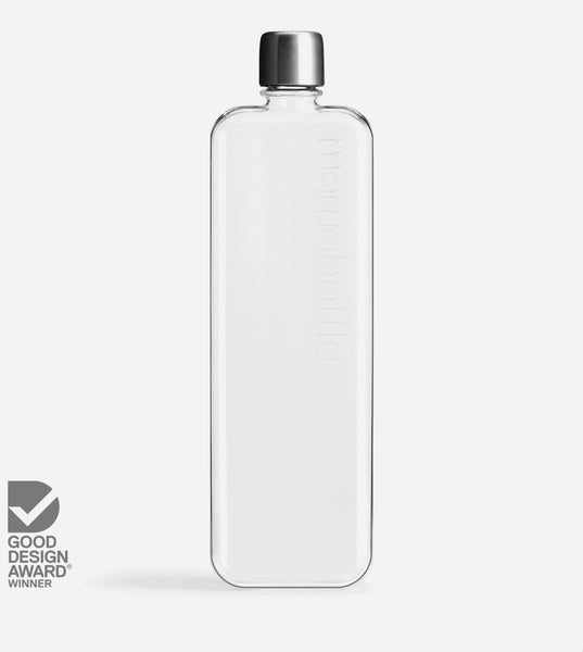 Slim Memobottle Reusable Water Bottle