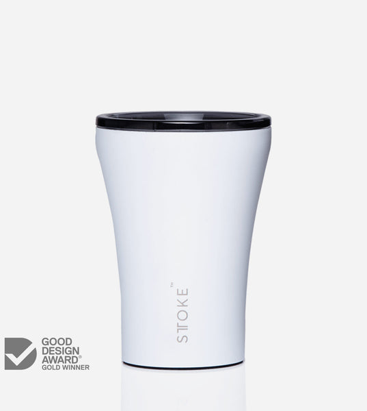 Reusable Coffee Cup, in Posh White