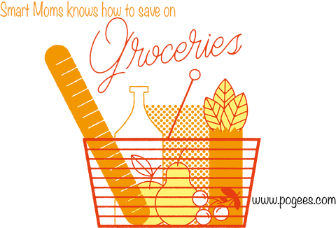 basket full of bread and other grocery items www.pogees.com