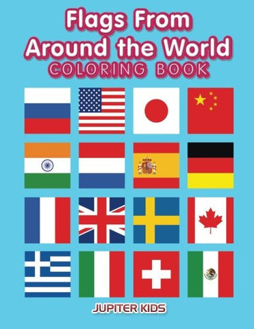 Flags Around the World Coloring Book