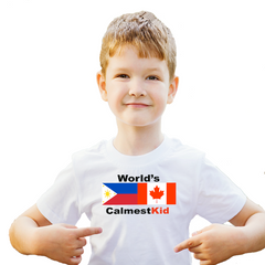 Filipino Canadian Boy wearing white tshirt
