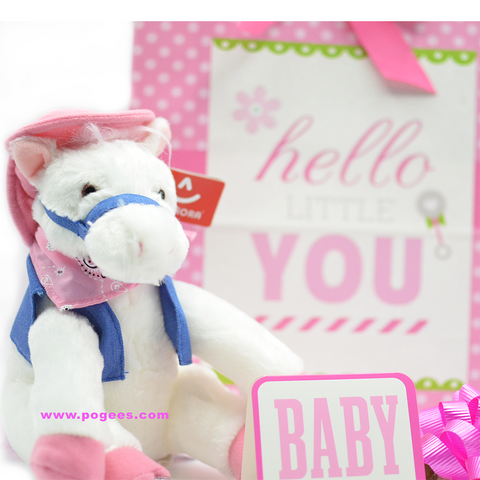 Baby Shower Gift Idea for Girls White Pony