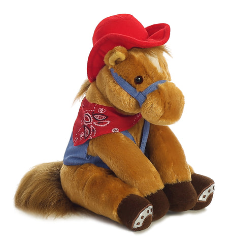 Brown Pony with Red Hat
