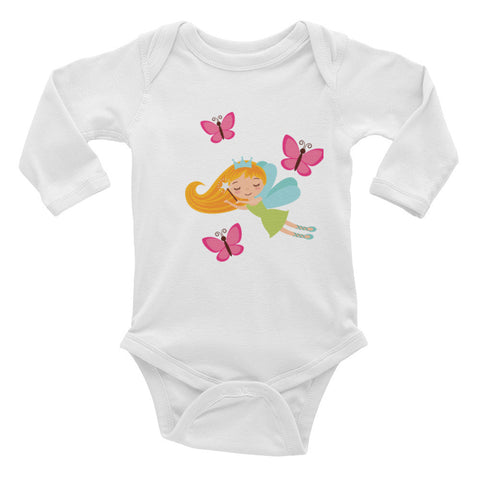 Fairy Butterfly Infant Long Sleeve Bodysuit