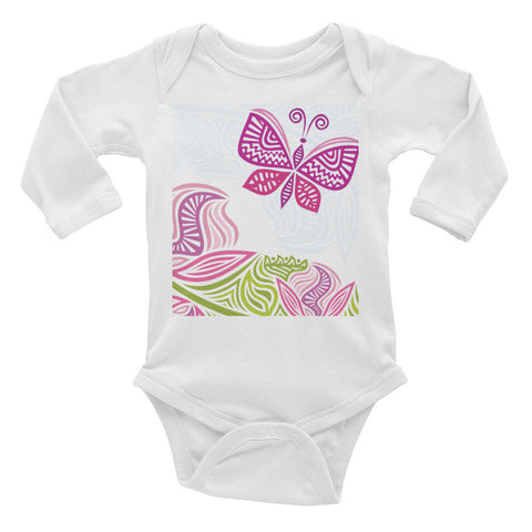 Butterfly Infant Long Sleeve Bodysuit