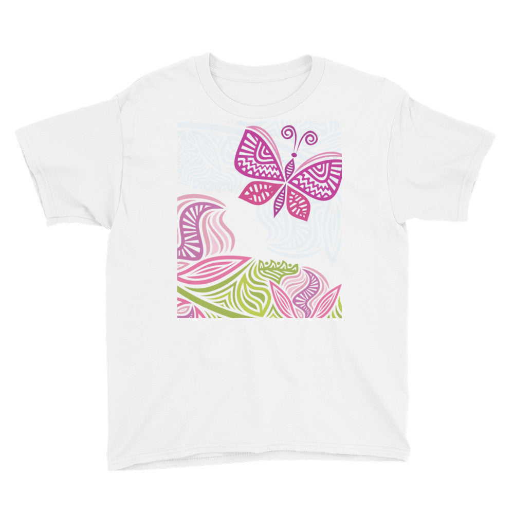 Spring Butterfly Youth Short Sleeve T-Shirt
