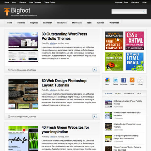 Bigfoot Premium Theme