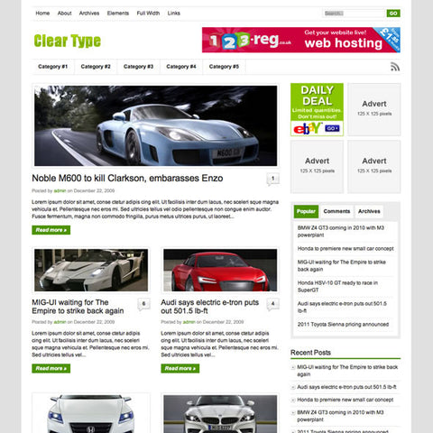 Cleartype Premium Wordpress Theme