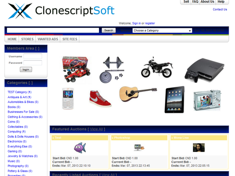 eBay Clone THEME (Sharp Blue)