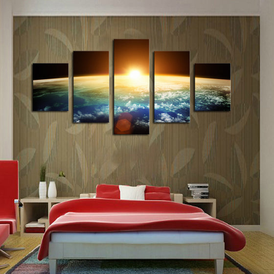 Earth Sunrise - 5 Piece Canvas