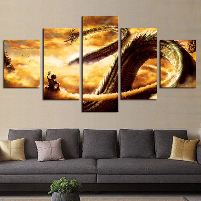 Dragon Returns - 5 Panel Canvas
