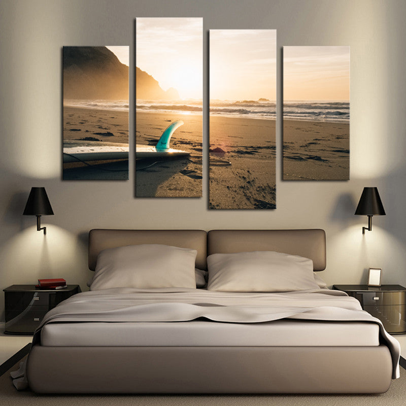 Beach Surf - 4 Panel Canvas