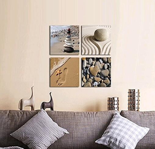Beach Theme 4 Piece Canvas