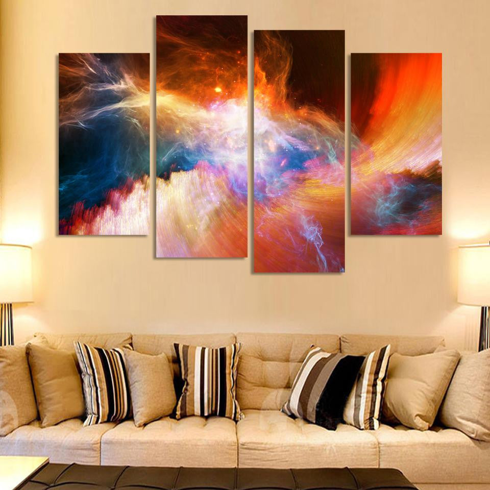 Space Canvas Set - 4 Panel