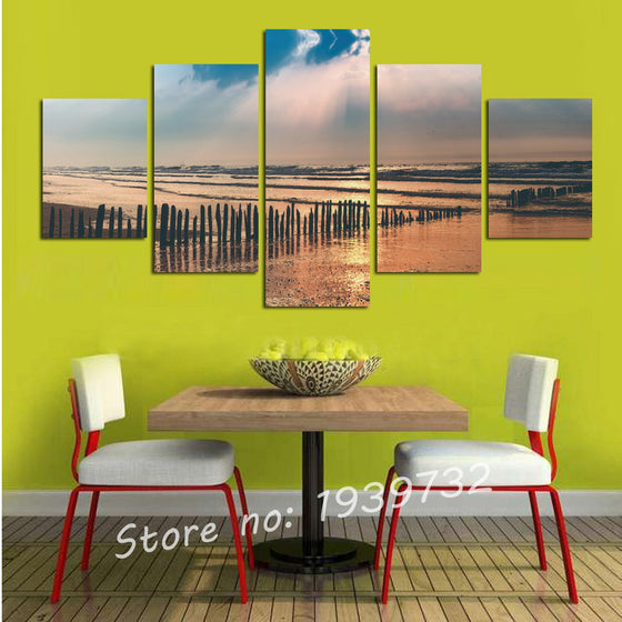 Wetlands - 5 Panel Canvas