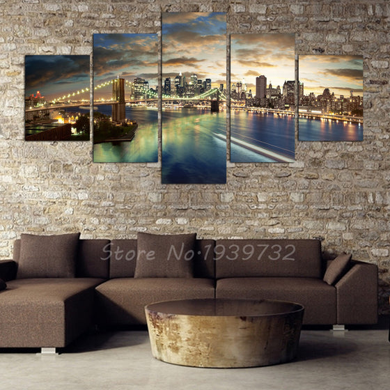Chicago City Landscape - 5 Panel Set