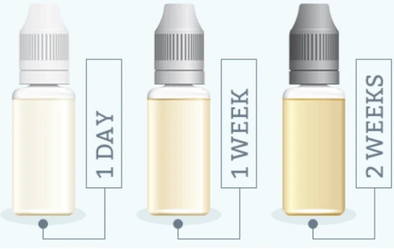 How long does steeping e-juice take?
