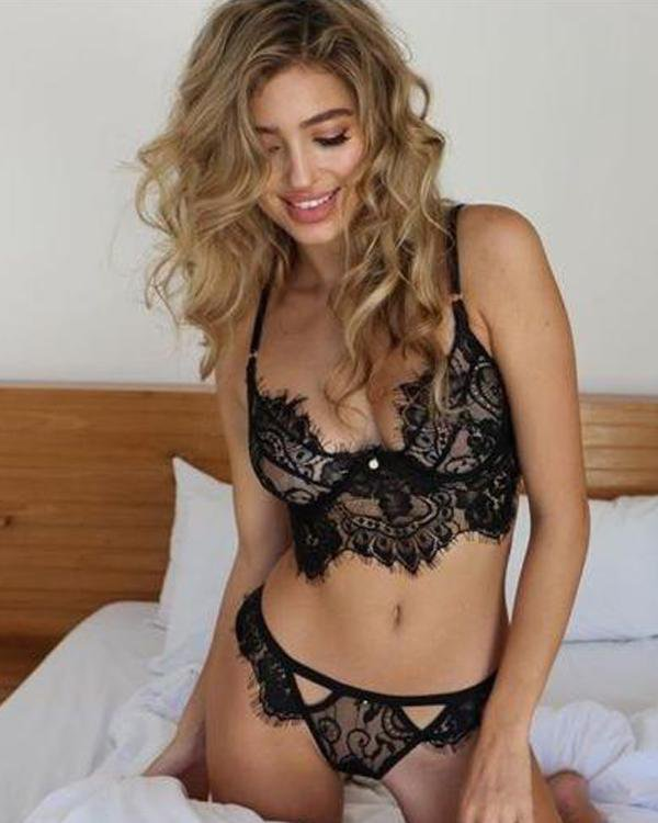 See-Through Lace Underwear Lingerie Sets