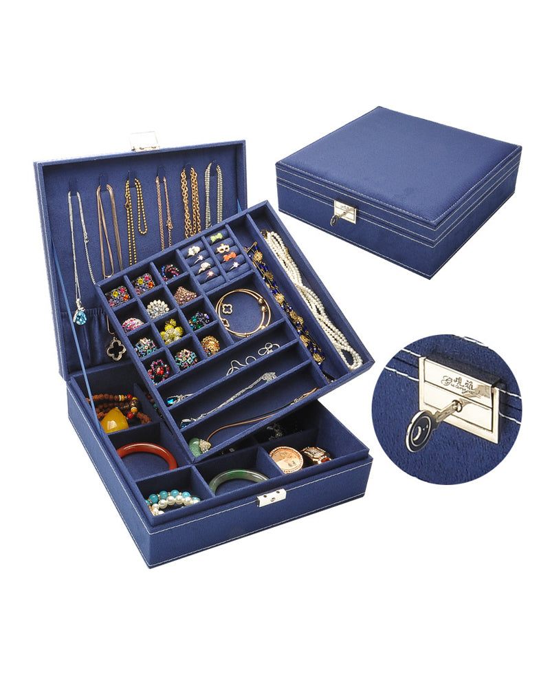 Colorfull Double - Deck Jewelry Box