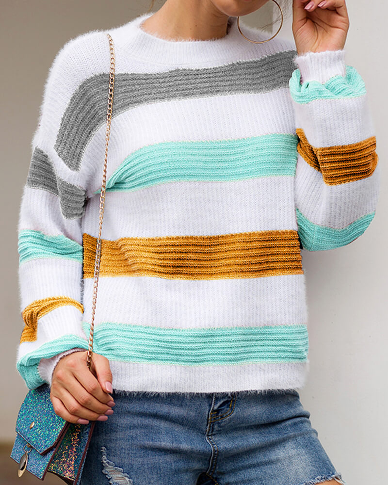 Elegance Striped Sweater