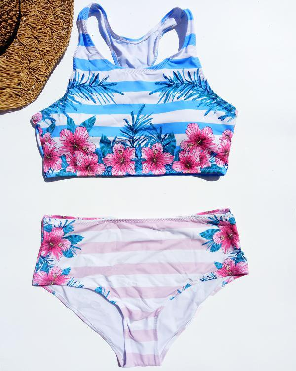 Beauty Affair Floral Tank Bikini Set