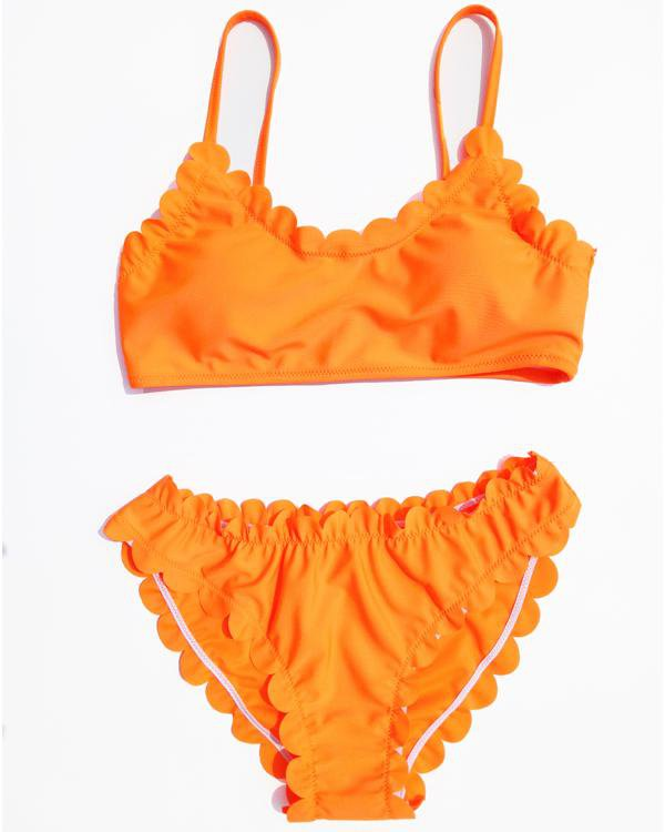 Pretty Summer Petaloid Bikini Set