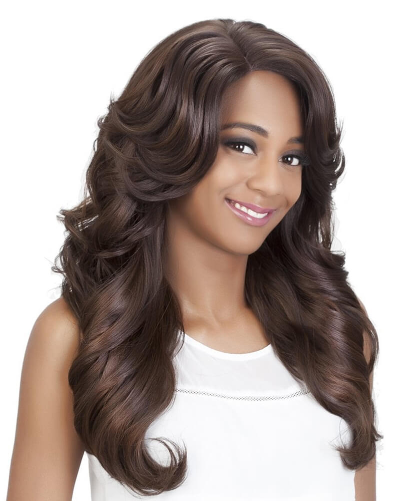 Auburn Big Lace Waves Synthetic Wig