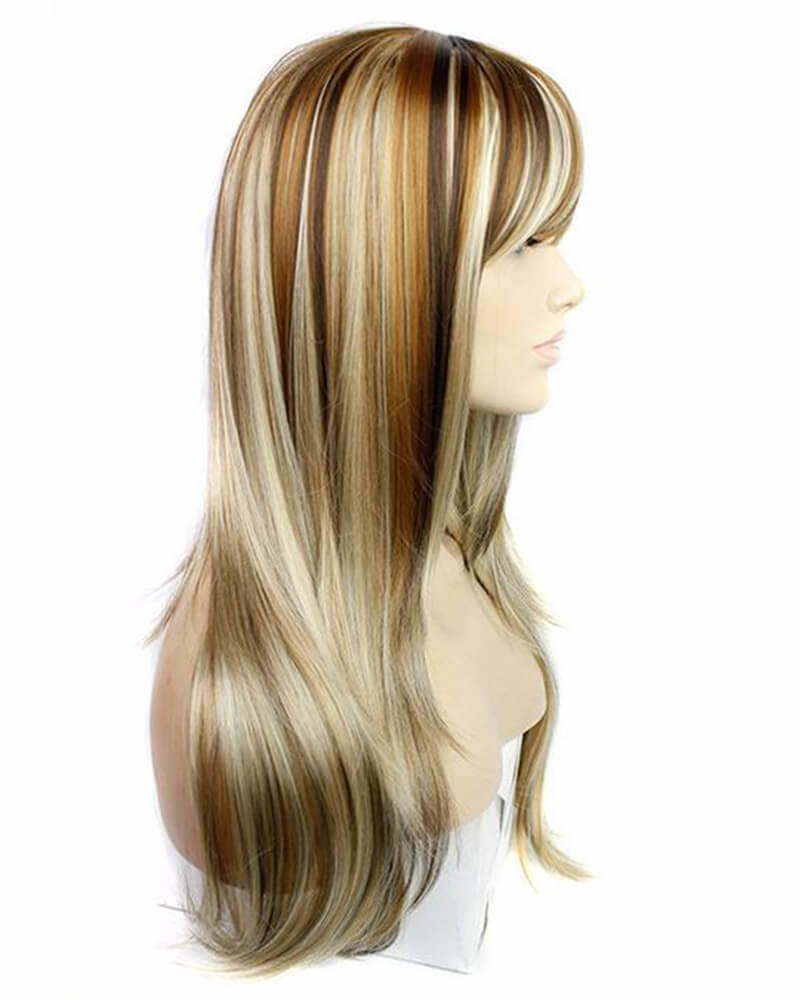 Goldern Central Parting Long Straight Wig