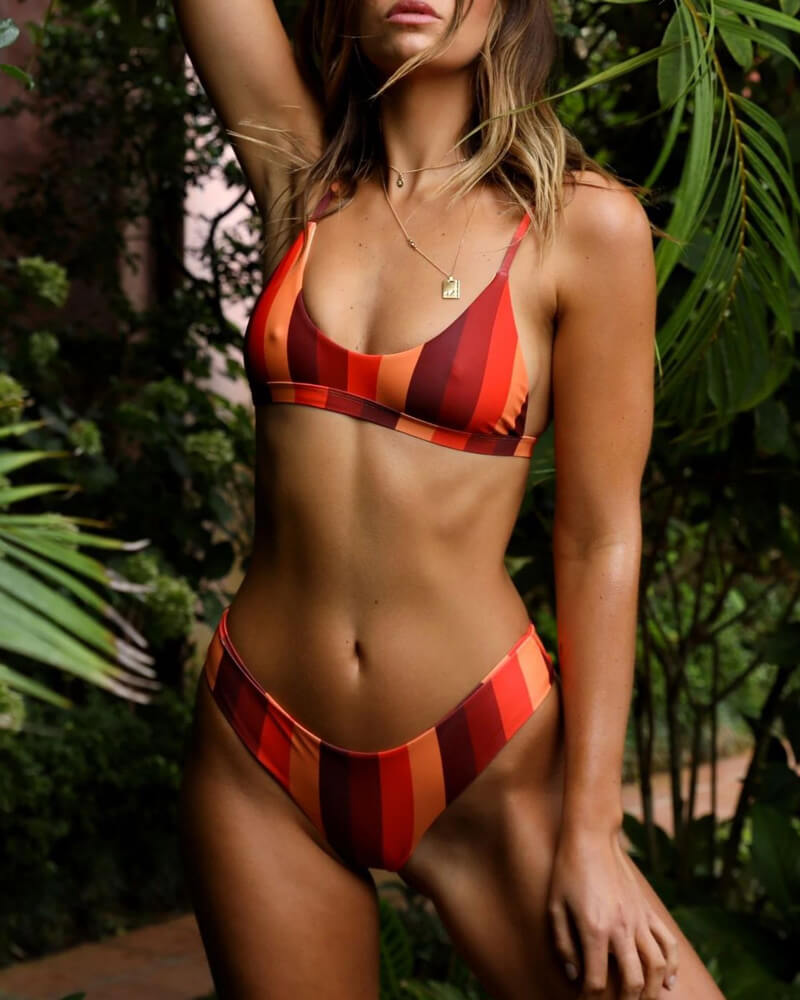 Sunshine Striped Swimwear