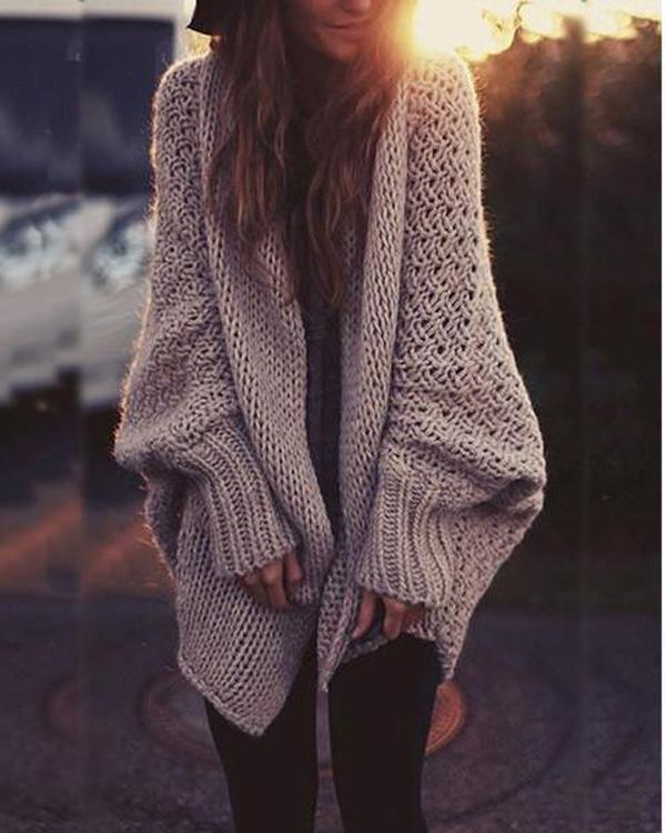 Loose Gilet Cardigan Knitting Sweater