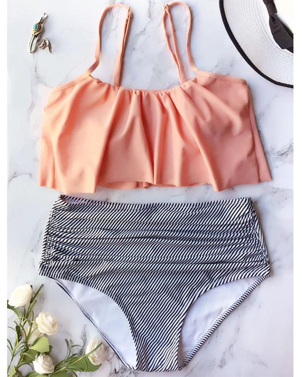 Falbala High-waisted Bikini Set