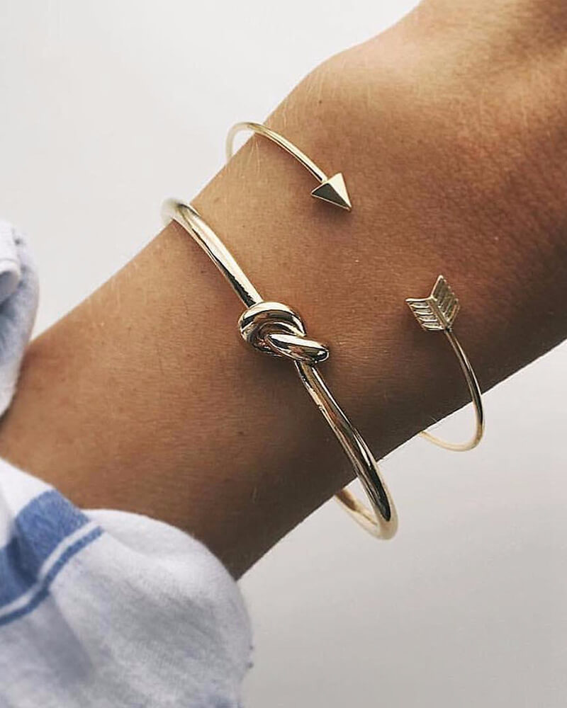 Arrow And Knotted Bracelet
