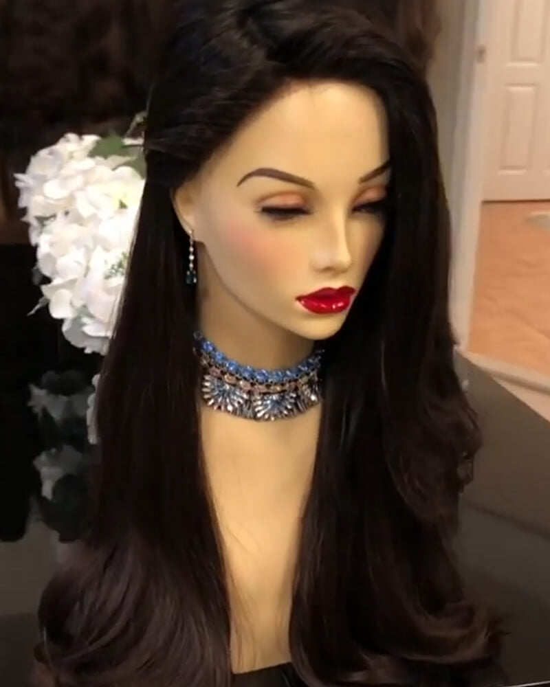 Kyller Long Black Wave Synthetic Wig
