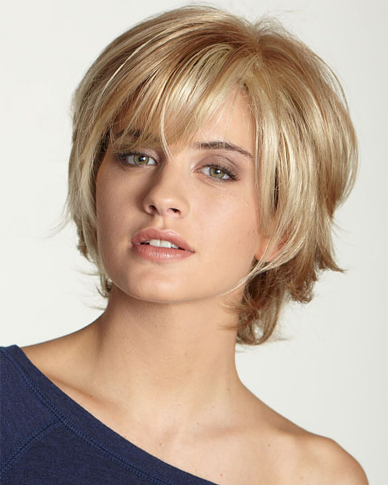 Blond Bang Short Human Wig
