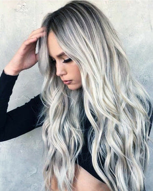 Cosplay Style Grey Wavy  Long Wigs