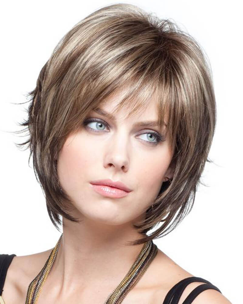 Blond Short Natural Wavy Wig
